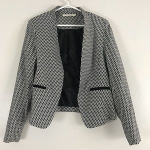 ZigZag Black and White Blazer